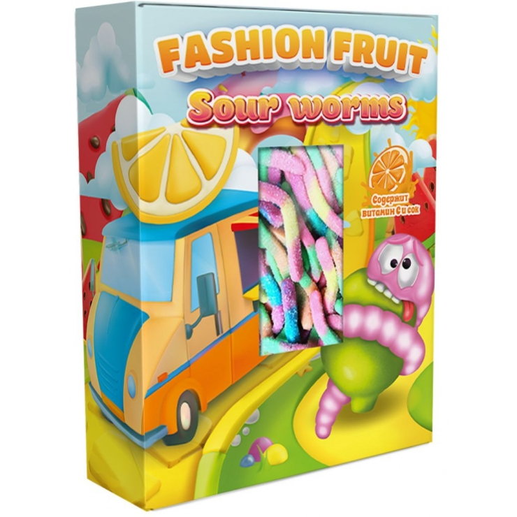 Fashion Fruit Worms neon sour