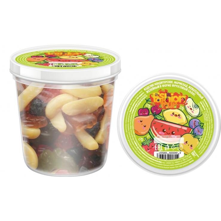 Жевательный желейный мармелад Fashion fruit, фруктовый салат